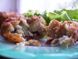 Boulettes de viande de mon enfance : boulettes de pommes de terre, boeuf, persil