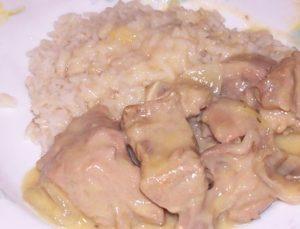 Blanquette de veau et son riz