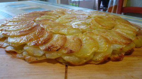gâteau mille-feuilles aux pommes de terre