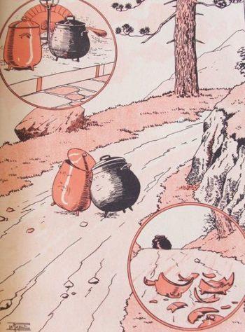 le pot de fer et le pot de terre