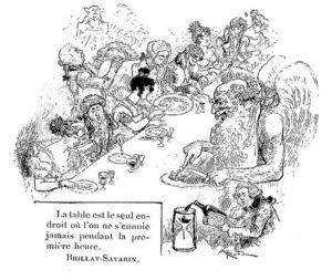 L'Art du bien manger, estampes de Brillat-Savarin, préface d'André Theuriet