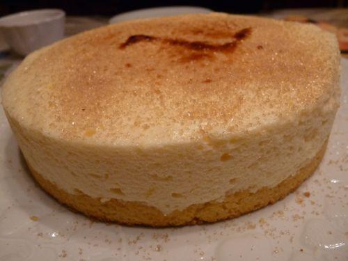 Gâteau à la bergamote : chiboust posée sur son fond sablé