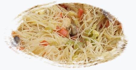 vermicelles légumes et poulet au wok