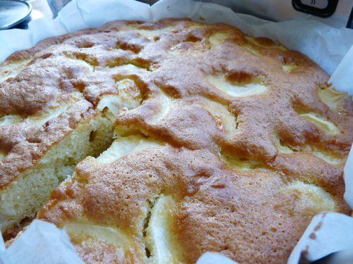 gâteau aux pommes et au yahourt