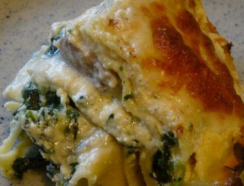 lasagnes aux épinards et au saumon