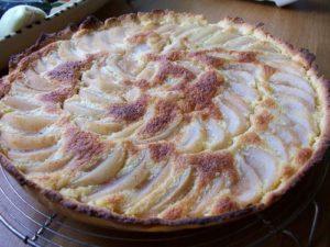 Tarte bourdaloue, la tarte poire et amandes