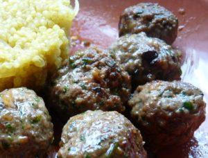 Boulettes de viande coriandre et cumin