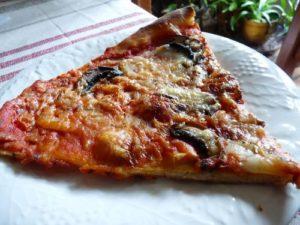 Pizza aux champignons et au fromage
