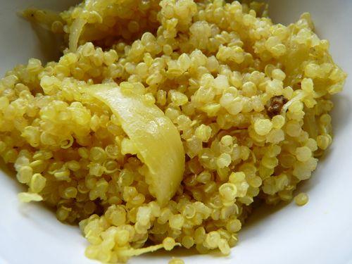 quinoa au fenouil et à l'orange