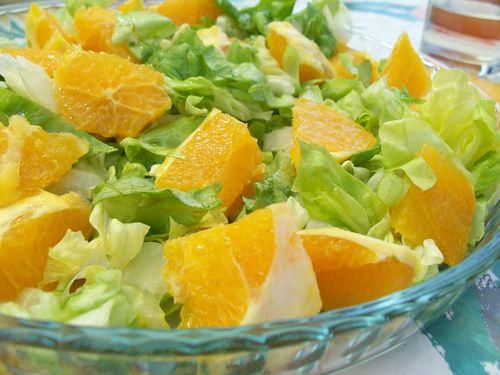 salade à la fleur d'oranger