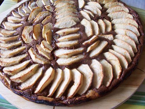 tarte fine au chocolat et aux pommes