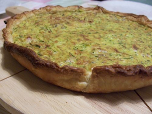tarte safranée courgettes fromage
