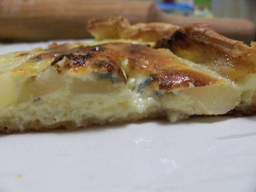 tarte au roquefort et aux poires