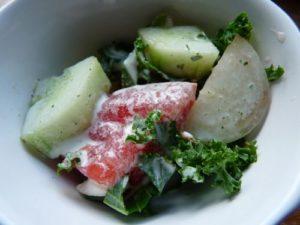 Sauce à la menthe pour salade