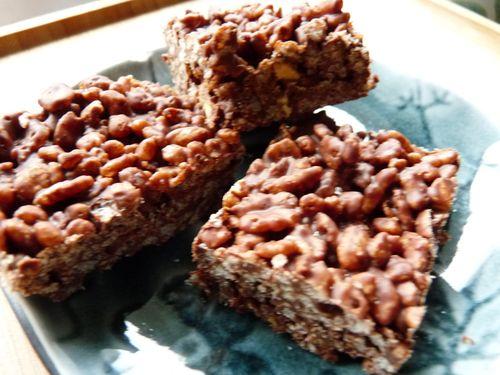 carrés de riz soufflé au chocolat