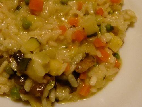 risotto crémeux aux champignons