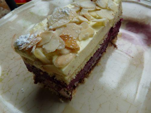 bavarois cassis-vanille